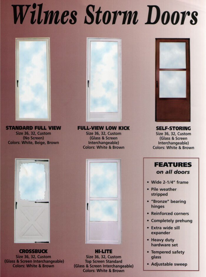 Wilmes Window Storm Doors